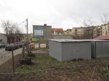 Róg Kościuszki i Słowackiego. Dziś garaże. Dawniej dom.