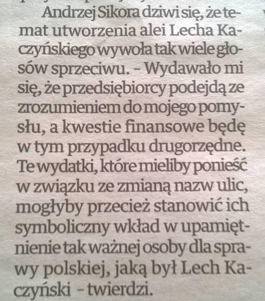 ulica lecha kaczyńskiego