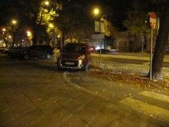 Zamojska - parkowanie na ścieżce rowerowej