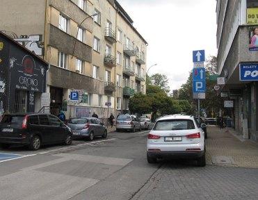 Śródmieście - bezpłatne miejsce w ramach płatnej strefy parkowania