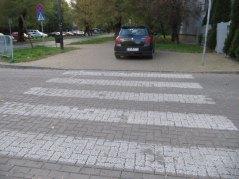 Przejście dla pieszych koło Plazy