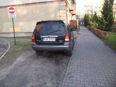 Parkowanie na trawniku. Wiocha